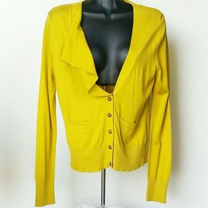 NWOT Anthropologie Moth Yellow Green Sweater